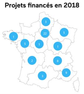 lendopolis répartition géographique des projets