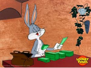 Bugs Bunny compte son épargne